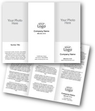 Text & Logo Brochures