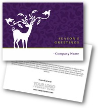 Reindeer with Seamless Floral Background